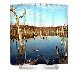 Autumn At Lake Jacomo 3   Shower Curtain