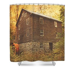 Autumn At Millbrook 8 - The Grist Mill Shower Curtain