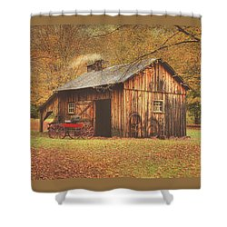 Autumn At Millbrook Village -the Blacksmith Shop Shower Curtain