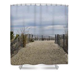 Autumn At The Beach Shower Curtain