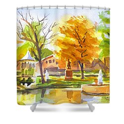 Autumn At The Villa Shower Curtain by Kip DeVore