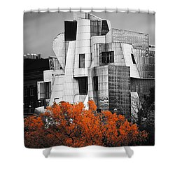 autumn at the Weisman Shower Curtain by Matthew Blum