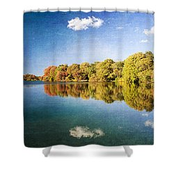 Autumn At Twin Ponds Shower Curtain