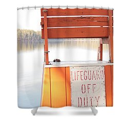 Autumn At White Lake Shower Curtain by Barbara Bardzik