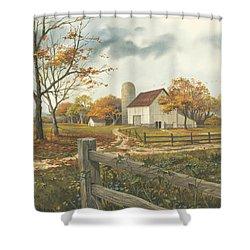 Autumn Barn Shower Curtain