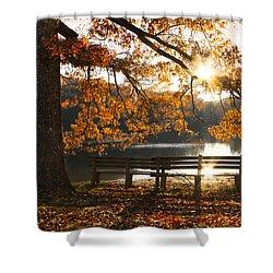 Autumn Beauty Shower Curtain by Debra and Dave Vanderlaan