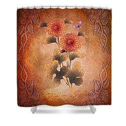 Autumn Blooming Mum Shower Curtain by Bedros Awak