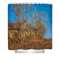 Autumn Bluff Painted Shower Curtain by Nikolyn McDonald