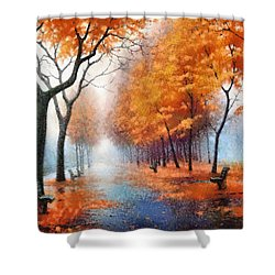 Autumn Boulevard Shower Curtain