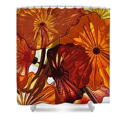 Shower Curtain featuring the digital art Autumn Burst by Kirt Tisdale