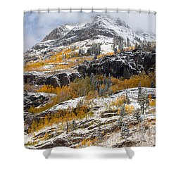 Autumn Clearning Shower Curtain by Darren  White