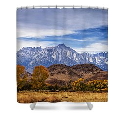 Autumn Colors And Mount Whitney Shower Curtain
