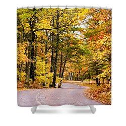 Autumn Colors - Colorful Fall Leaves Wisconsin - II Shower Curtain