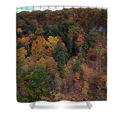 Shower Curtain featuring the photograph Autumn Colors In Taughannock State Park Ithaca New York by Paul Ge