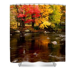 Autumn Colors Reflected Shower Curtain by Jeff Folger