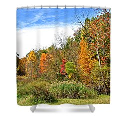 Autumn Colors Shower Curtain by Frozen in Time Fine Art Photography