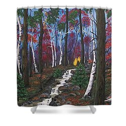 Autumn Colours Shower Curtain by Sharon Duguay