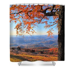 Autumn Comes To Black Rock Mountain - North Georgia Shower Curtain by Mark E Tisdale