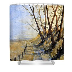 Autumn Country Road Shower Curtain