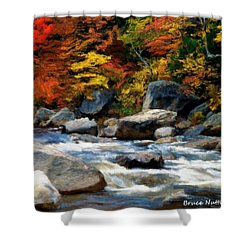 Shower Curtain featuring the painting Autumn Creek by Bruce Nutting
