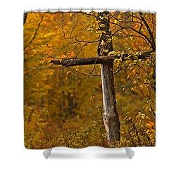 Autumn Cross Shower Curtain