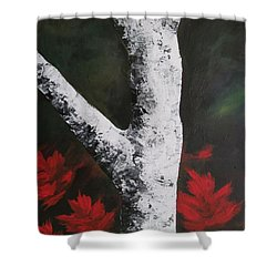 Autumn Dance Shower Curtain by Beverly Livingstone