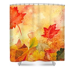 Autumn Dance Shower Curtain by Irina Sztukowski