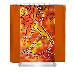 Autumn Dancing Shower Curtain