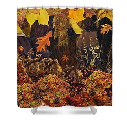 Autumn Shower Curtain by Denise Mazzocco