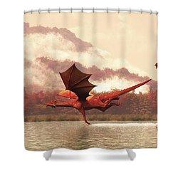 Autumn Dragons Shower Curtain