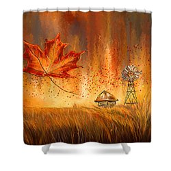 Autumn Dreams- Autumn Impressionism Paintings Shower Curtain