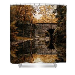 Autumn Echo Shower Curtain by Jessica Jenney