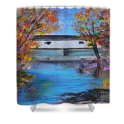Autumn Evening Shower Curtain by Alys Caviness-Gober