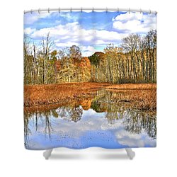 Autumn Fades Shower Curtain by Frozen in Time Fine Art Photography