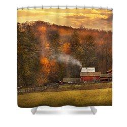 Autumn - Farm - Morristown Nj - Charming Farming Shower Curtain by Mike Savad