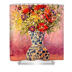 Autumn Flowers Shower Curtain by Ana Maria Edulescu