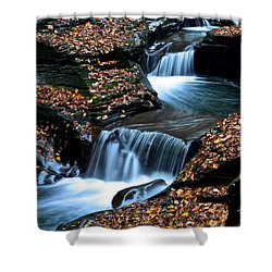 Autumn Flows Forth Shower Curtain by Frozen in Time Fine Art Photography