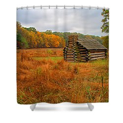 Autumn Foliage In Valley Forge Shower Curtain by Michael Porchik
