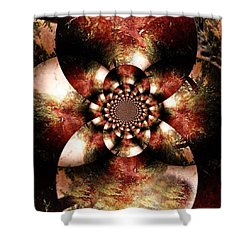 Autumn Fractal Abstract Shower Curtain by Maggie Vlazny