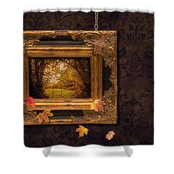 Autumn Frame Shower Curtain by Amanda Elwell