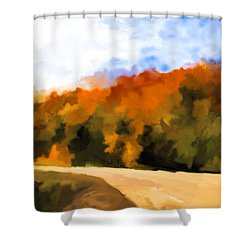 Autumn Fringe Shower Curtain by Jo-Anne Gazo-McKim