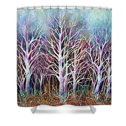 Autumn Frost Shower Curtain by Janine Riley
