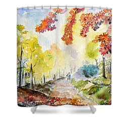 Autumn Shower Curtain by Geeta Biswas