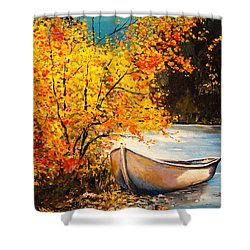 Shower Curtain featuring the painting Autumn Gold by Alan Lakin