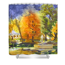 Autumn Gold Shower Curtain by Kip DeVore