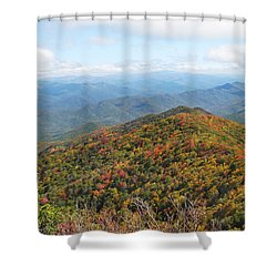 Autumn Great Smoky Mountains Shower Curtain by Melinda Fawver