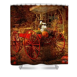 Autumn Harvest At Brewster General Shower Curtain