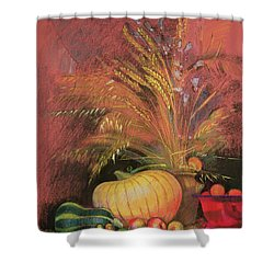 Autumn Harvest Shower Curtain by Claire Spencer