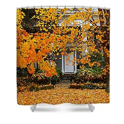Autumn Homecoming Shower Curtain