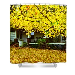 Shower Curtain featuring the photograph Autumn Homestead by Rodney Lee Williams